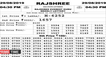 Rajshree Lottery Result Archives - Page 2 of 5 - The PrimeTime