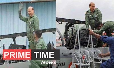 Defense Minister Rajnath Singh fills in indigenous 'Tejas'