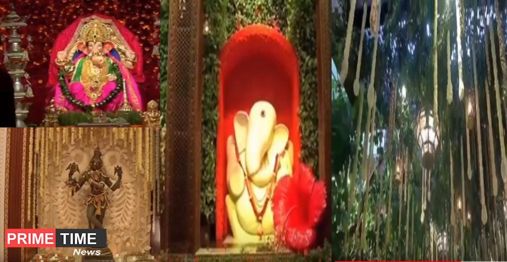 Mukesh and Nita Ambani's house antilia on the occasion of Ganesh Chaturthi