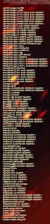 Mamangam Kerala Theatre List 1