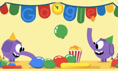 New Year Google Doodle