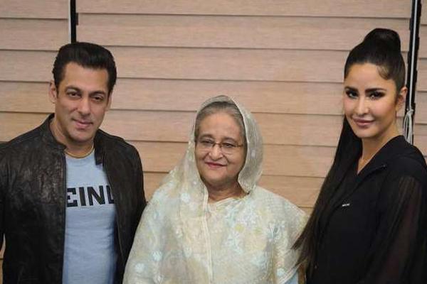 Salman and Katrina with Sheikh Hasina