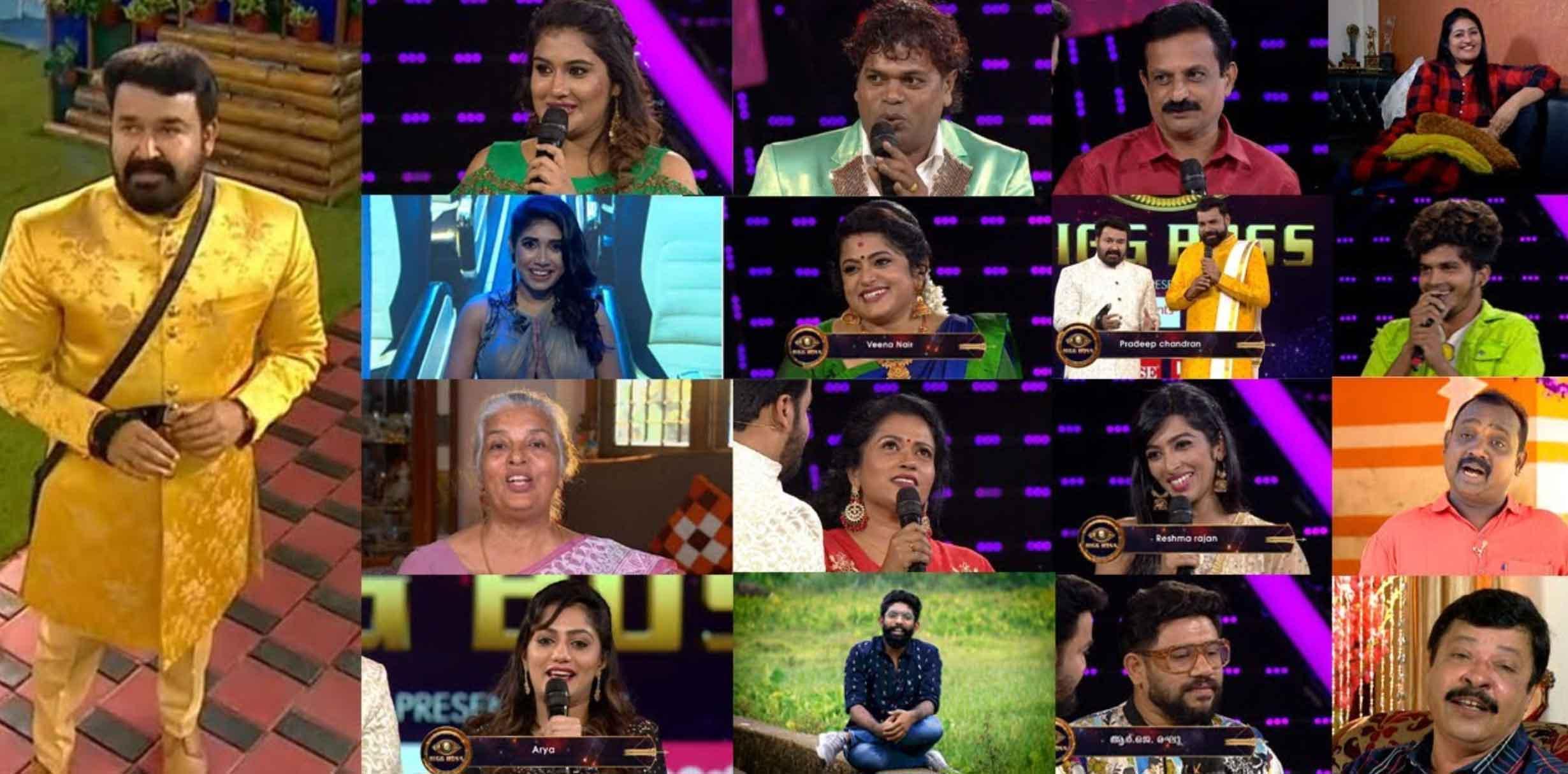 Bigboss-2-malayalam-contestants-list-2019