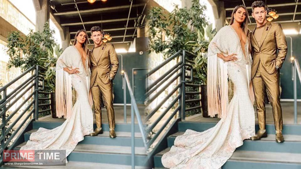 Grammys 2020 Priyanka's bold avatar seen on the red carpet, robbing Mehf with Nick at Award Night, photo goes viral