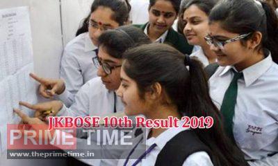 JKBOSE 10th Result 2019