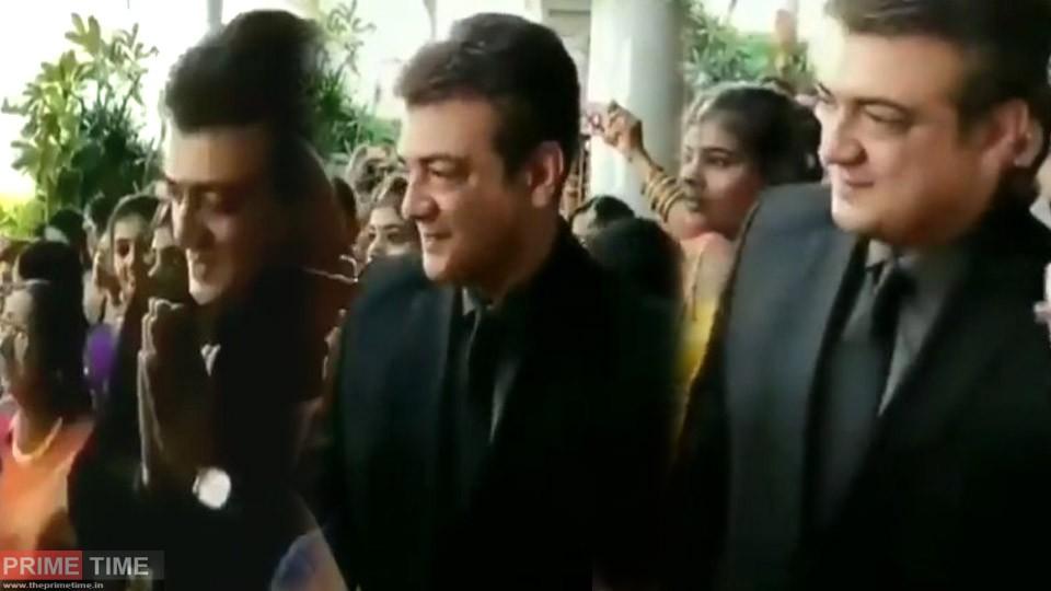 Ajith in his Manegar's Wedding