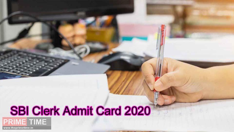 SBI Clerk Admit Card 2020