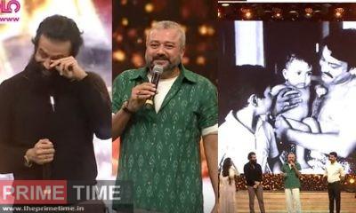 Jayaram smacks of Prithvi's Bluetooth cooling glass at the award ceremony