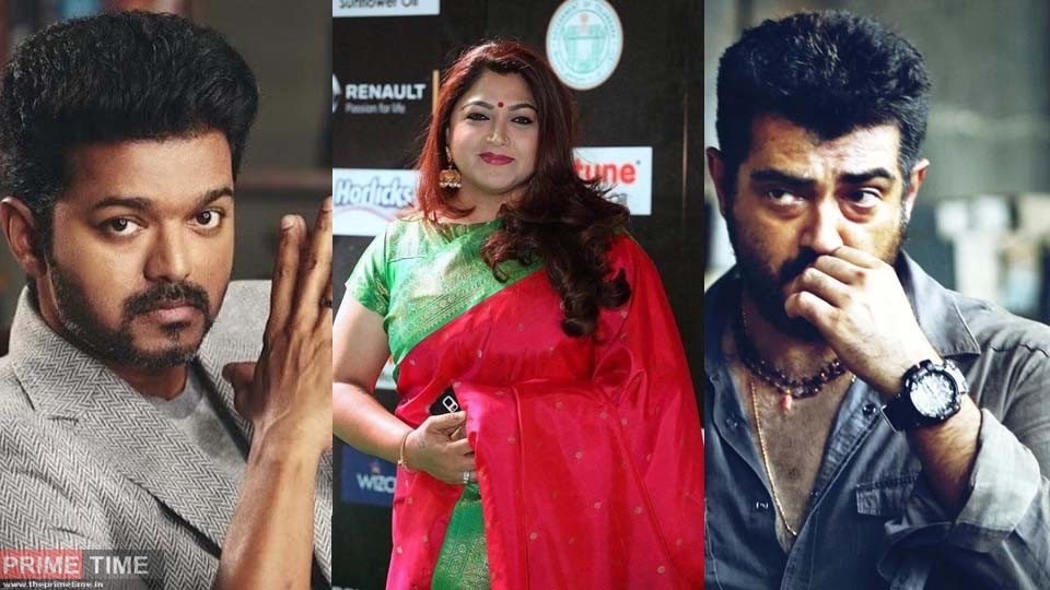 Kushboo angry over Ajith and Vijay Fans!