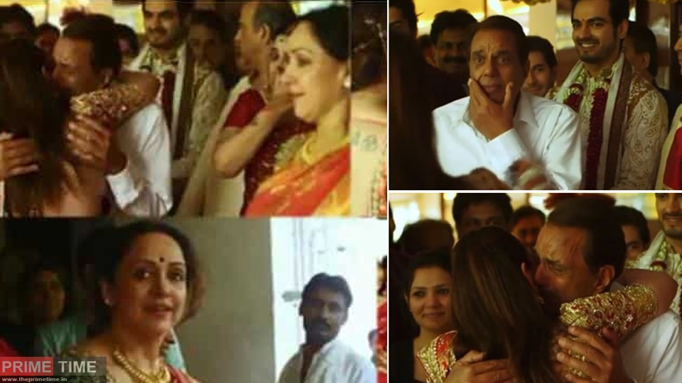 Dharmendra could not stop his tears on Isha Deol's departure, video is becoming viral on social media