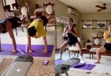 Sara Ali Khan sharing the workout video