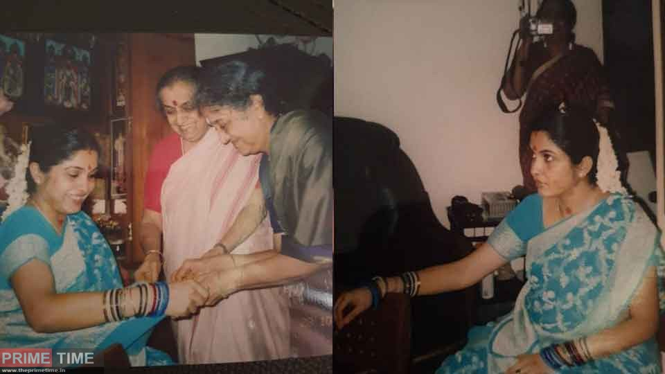 Actress Remya Krishnan shared her Valakappu photos
