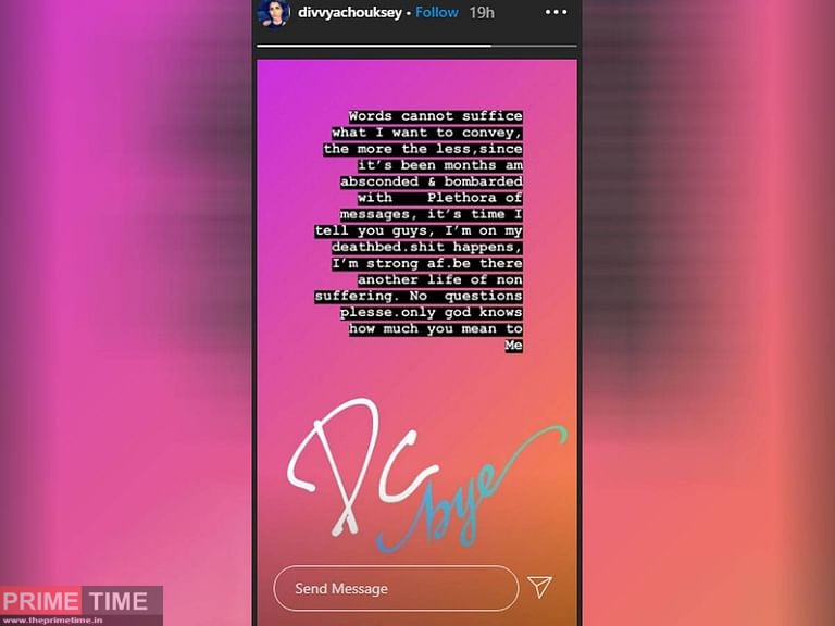 Divya's Last Instagram Post