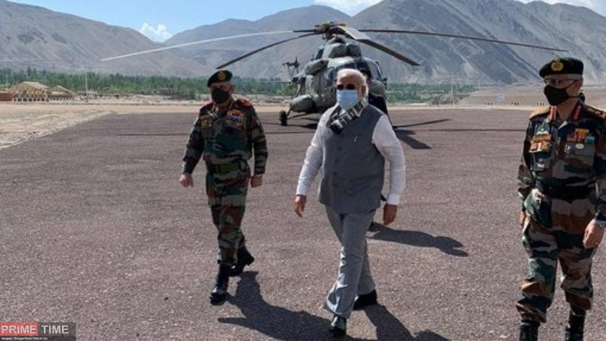 Narendra Modi in Ladakh