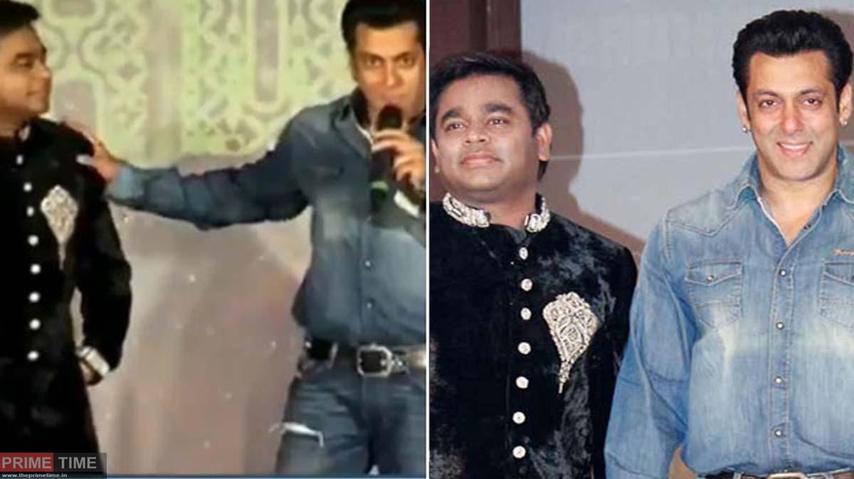 Public ridicule AR Rahman not giving his hand toSalman! Viral video