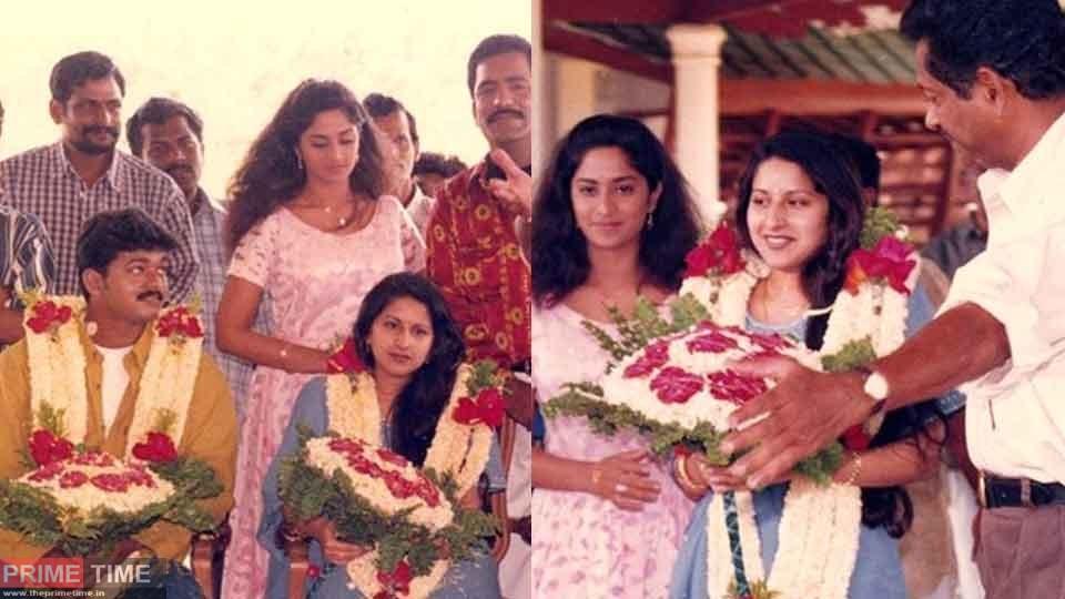 Vijay-Sangeetha wedding celebration with 'Kannukkul Nilavu' crew, Photos go viral