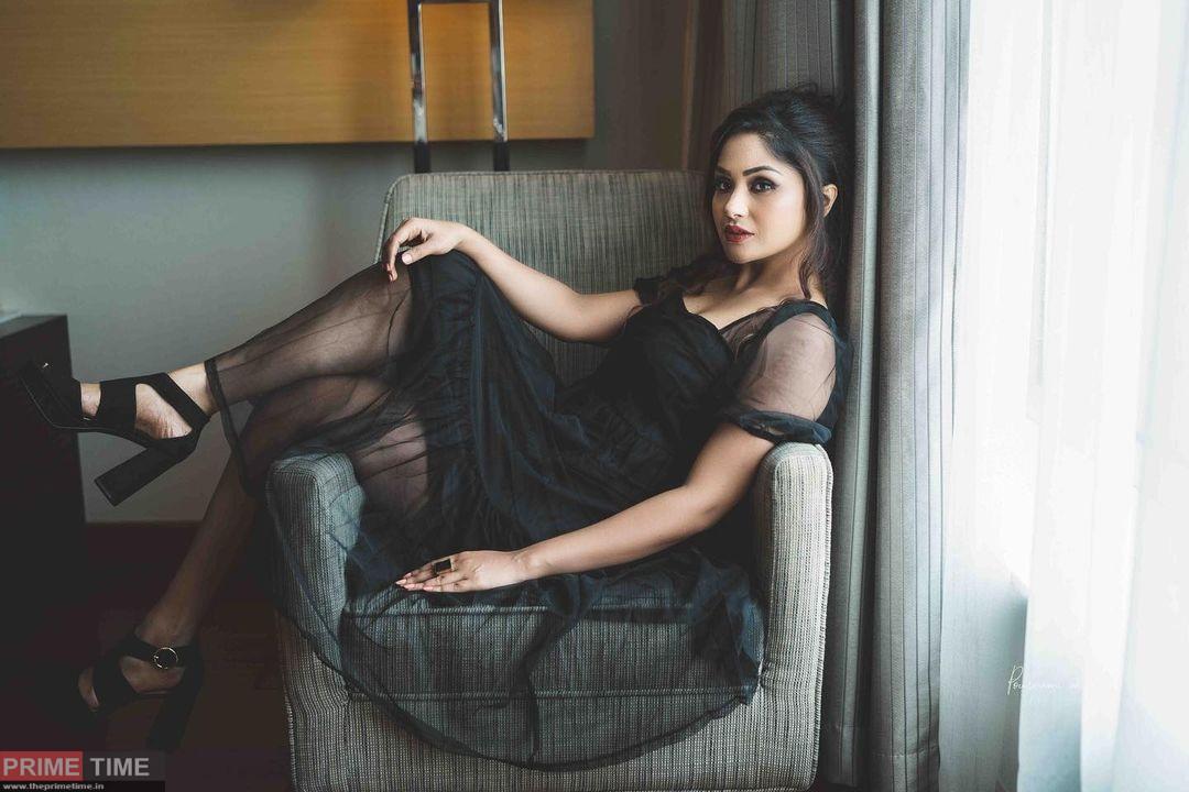 Shritha Sivadas glamorous look in black dress