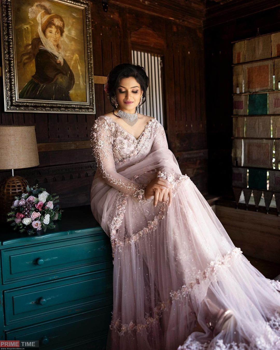 Divya has arrived as a Christian bride