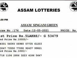 Assam Lottery Result At 5 PM