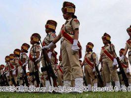 BPSSC Bihar Police SI Result 2021