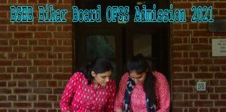 BSEB Bihar Board OFSS Admission 2021