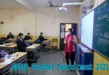 DSSSB Teacher Recruitment 2021