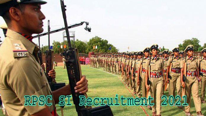 RPSC-SI-Recruitment-2021