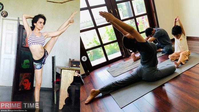 kangana ranaut doing yoga