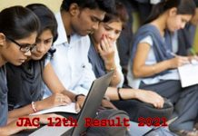 JAC 12th Result 2021