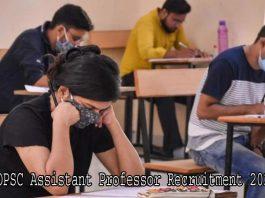 OPSC Assistant Professor Recruitment 2021