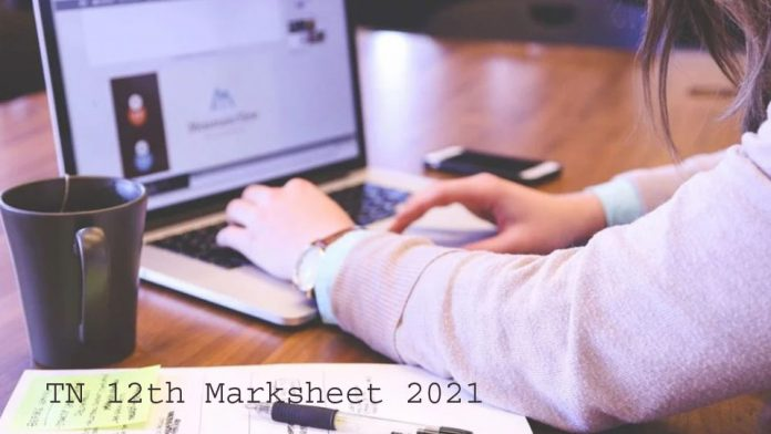 TN 12th Marksheet 2021