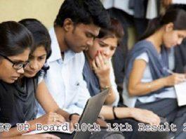 UPMSP UP Board 10th 12th Result 2021