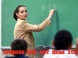 UPSESSB TGT PGT Exam 2021