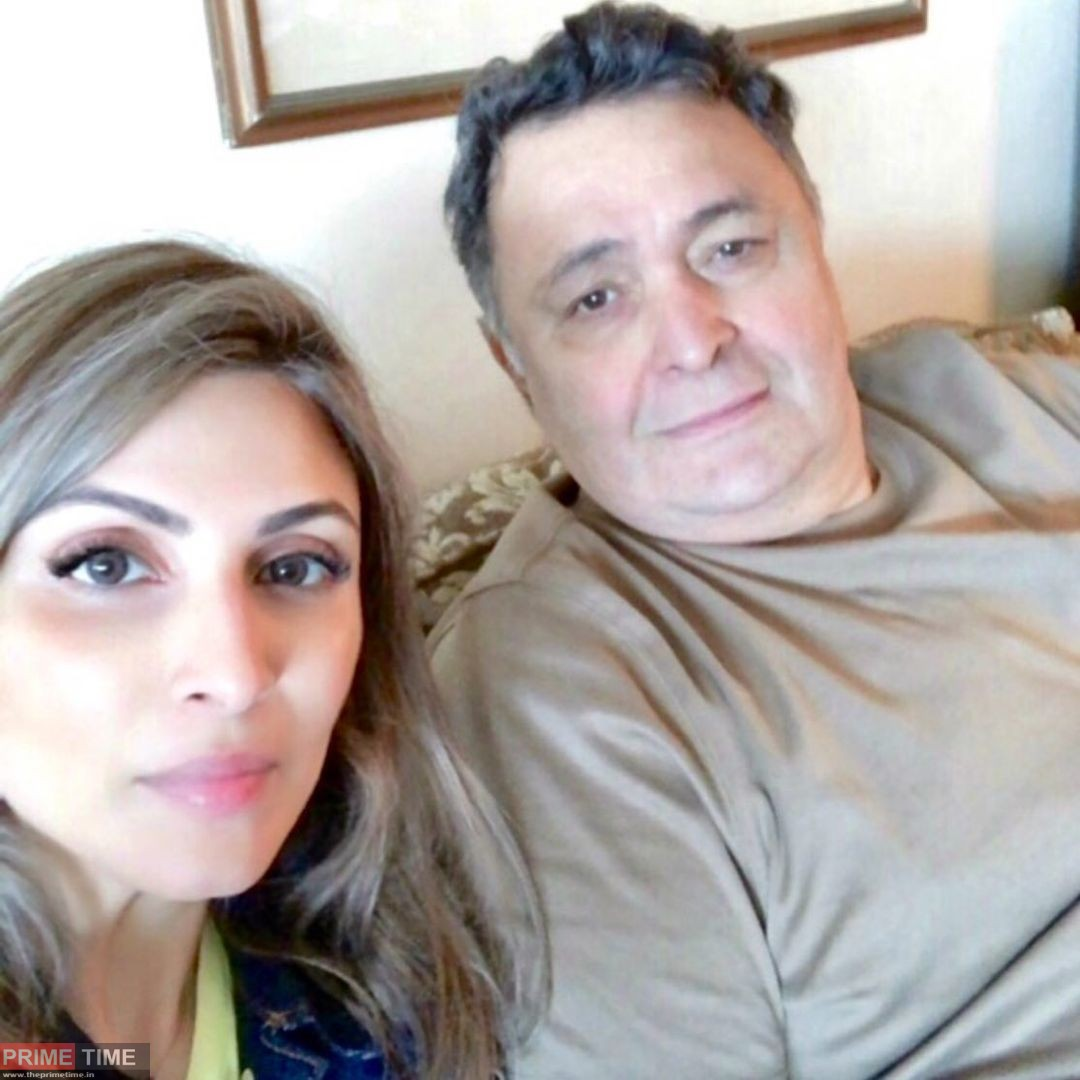 Riddhima Kapoor with her father Late Rishi Kapoor